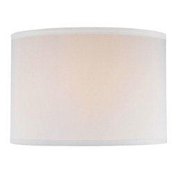 """Lite Source - Lite Source CH1152-16OFF/WH Accessories Shades in Off-White - Off White Drum Shade - 16""""Tx16""""Bx11""""H"""