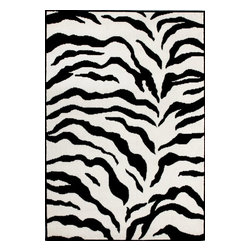 """nuLOOM - Animal Prints 7' 10"""" x 10' 10"""" White and Black Machine Made Area Rug Contemporar - Made from the finest materials in the world and with the uttermost care, our rugs are a great addition to your home."""