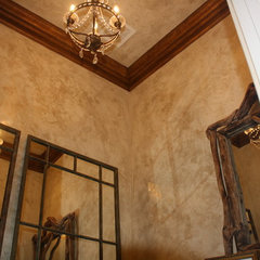 traditional powder room by Rachel Sejas- Decorative Artisan/ Faux Finisher