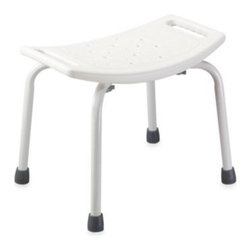 Drive Medical - Drive Medical Bathroom Safety Shower Tub Chair in White - This lightweight but sturdy bath chair from Drive Medical features a durable and corrosion- proof steel frame for strength, angled legs with tips for stability, and a blow-molded seat with drainage holes to help reduce slipping when in use.