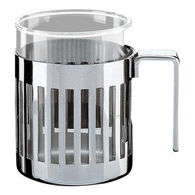 "Alessi - Alessi ""Armug"" Mug - Mug in mirror polished steel with heat resistant glass."
