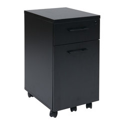 Office Star - Office Star Prado Mobile File in Black With Hidden Drawer and Casters - OSP Designs Prado Mobile File in Black with Hidden Drawer and Casters What's included: Filing Cabinet (1).