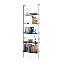 "ISS Designs - PAL26 26"" Pole Mounted Aluminum Shelving, Black - 26"" Wide Pole Mounted Aluminum Shelving"