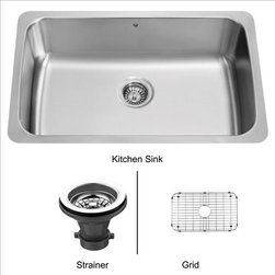 Vigo - VIGO VG3019CK1 Sink, Grid, Strainer - The VIGO undermount kitchen sink complements any decor and is highly functional. Every design detail is featured in this sink to meet your needs.