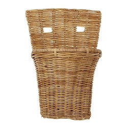 Eco Displayware - Large French Storage Wall Rattan Basket in Na - Great for closet, bath, pantry, office or toy and game storage. Earth friendly. 16 in. L x 11 in. W x 24 in. H (15.36 lbs.)These natural colored baskets add warmth and charm and keep you organized.