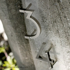 modern house numbers by Atlas Homewares, Inc.