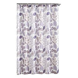"Larkin Purple Embossed Microfiber Shower Curtain- 72""x 72"" - Larkin Purple Embossed Microfiber Shower Curtain- 72""x 72"""