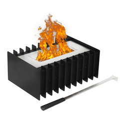 Moda Flame - 1.5 Liter Ventless Bio Ethanol Fireplace Grate Burner Insert - Converting or customizing your already existing fireplace to ethanol has never been easier with an ethanol fireplace grate. This ethanol fireplace grate burner insert is eco-friendly by burning clean ethanol fireplace fuel.