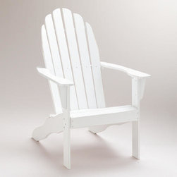 Antique White Classic Adirondack Chair - This year, I think I would like to add a couple of lounge chairs to my garden for a more relaxed seating option. Adirondack chairs are a favorite of mine.
