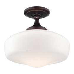 "Minka Lavery - Minka Lavery 2259-576 1 Light 15.5"" Height Semi-Flush Ceiling Fixture in Brushed - Single Light 15.5"" Height Semi-Flush Ceiling Fixture in Brushed BronzeFeatures:"