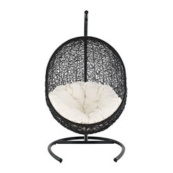 Cocoon Wicker Rattan Outdoor Wicker Patio Swing Chair  Suspension Series