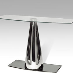 Chintaly Imports - Tamara Glass Top Sofa Table - Features: