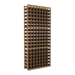 Wine Racks America - 8 Column Standard Wine Cellar Kit in Redwood, Oak Stain + Satin Finish - Wooden wine storage available in pine or redwood Plus many stain and finish options. The best rack for an intermediate collector. This rack stores up to 12 cases of wine in 18 bottle columns. You'll love it. We guarantee it.
