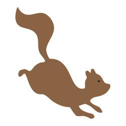 My Wonderful Walls - Squirrel Stencil for Painting - - 2-piece squirrel wall stencil