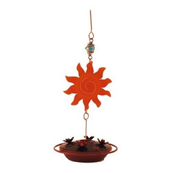 WOODSTREAM - Hummingbird Feeder Sun Catcher - Features southwestern inspired accents: cactus flowers and turquoise. Cap oz = 7.5