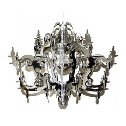 EcoFirstArt - Claire de Lune Chandelier BIG Mirror - Make dazzle and drama the ceiling centerpiece for your favorite setting. This remarkable rococo-inspired fixture is created from recycled mirrors to fabulous effect for your decor.