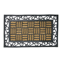 None - Rubber-Cal 'Live in Harmony' Outdoor Rubber Coir Fiber Doormat - Give your space a welcoming feel with this outdoor coir doormat. Featuring 100 percent natural coir fiber and rubber, this anti-slip doormat will keep your indoor floors looking great. This durable mat is easy to clean and lends style to your decor.