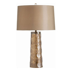 Arteriors Home - Callie Smoke Luster Irregular Etched Dot Glass Lamp - - Callie Smoke Luster Irregular Etched Dot Glass Lamp.   - Taupe Sheer Shade w/ Taupe Sheer Lining.   - Transitional style.   - Smoke luster finish.   - Made of Glass.   - Switch location: At Socket.   - Switch Type: 3-Way Rotary switch.   - Cord color: Clear/Silver.   - Cord Length: 8'.   - 2-Prong polarized plug.   - Clear glass finial with brass mount.   - Arteriors product is hand crafted and variations in finish occur. Arteriors Home - 44300-793