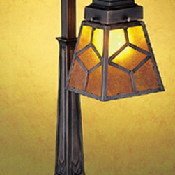 Meyda - 20 Inch Height Diamond Mission Mica 1-Light Table Lamps - Color theme: Amber