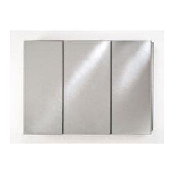 Afina Corporation - Afina Broadway Triple Door Medicine Cabinet with Beveled Edge TD 4830 R BRD (BV) - Afina TD 4830 R BRD (BV) Broadway Triple Door Medicine Cabinet with Beveled Edge