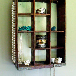 Repurposed Jewelry Display by stealthfox on Etsy -