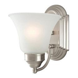 Sea Gull Lighting - Sea Gull Lighting 44235 Linwood 1 Light Bathroom Sconce - Features: