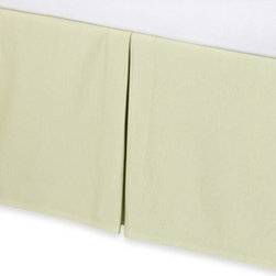 Real Simple - Real Simple Linear Green Bed Skirt - Complete your bedding ensemble with this simple and beautiful bed skirt that coordinates perfectly with the Linear duvet cover.