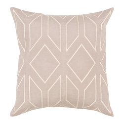 """Kathy Kuo Home - Angelina Hollywood Regency Linen Down Beige Pillow - 20"""" x 20"""" - * 20 inches high x 20 inches wide"""