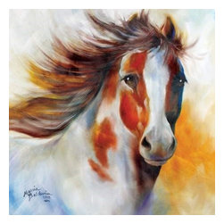 Westland - 15 x 15 Inch White and Brown Indian Pony Wall Art Canvas - This gorgeous 15 x 15 Inch White and Brown Indian Pony Wall Art Canvas has the finest details and highest quality you will find anywhere! 15 x 15 Inch White and Brown Indian Pony Wall Art Canvas is truly remarkable.