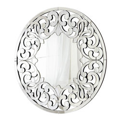 Cyan Design - Cyan Design 05707 Jules Traditional Round Mirror - Cyan Design 05707 Jules Traditional Round Mirror