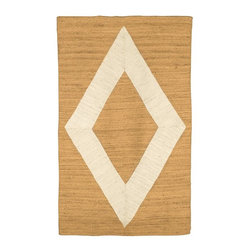 Appliqué Jute Rug, Natural/Ivory - A new entryway rug will keep your home feeling warm and welcoming each time you step in the door.