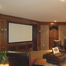 Contemporary Home Theater by Build Cincinnati of Coldwell Banker