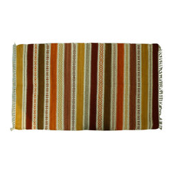 Colorful Area Rug, 3X6 Flat Weave 100% Wool Hand Woven Durie Kilim Rug SH6265 - Soumaks & Kilims are prominent Flat Woven Rugs.  Flat Woven Rugs are made by weaving wool onto a foundation of cotton warps on the loom.  The unique trait about these thin rugs is that they're reversible.  Pillows and Blankets can be made from Soumas & Kilims.