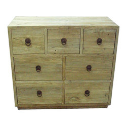 EuroLux Home - New Chest of Drawers Antique Reclaimed Elm - Product Details