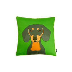 Dachshund! 18X18 Pillow (Indoor/Outdoor) - 100% polyester cover and fill.  Suitable for use indoors or out.  Made in USA.  Spot Clean only