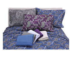 Bedding Web Store - Solid or Paisley-Flannel Sheet Set, Solid Navy Blue, Full - This sheet set is available in either solid flannel or paisley print.  These sheets are made with 100% cotton.  They will keep you comfortably warm on the coldest night.  This set includes a flat sheet, fitted sheet and two pillowcases.  The twin set only includes one pillowcase.    It is available in Twin, Twin XL, Full, Queen, King and California King size.  The color options are: Purple Paisley, Grey Paisley, Navy Paisley, White Solid, Navy Solid, Purple Solid, Grey Solid, Ivory Solid