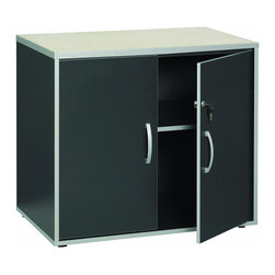 Talon - Talon Garage 2-Door Charcoal Stipple Base Cabinet - With sturdy design and heavy duty features, this garage series has a wider variety of applications from garages and workshops to utility rooms and basements. Units work individually or can be combined to create customized work spaces.