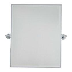 Minka-Lavery - Minka-Lavery Pivot Mirrors XL Rectangle Mirror - Beveled - 1441-77 - This Mirror has a Chrome Finish.