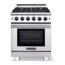 """American Range - ARR530L 30"""" Freestanding Liquid Propane Range With 5 Sealed Burners  4.3 Cu. Ft. - 30 Cuisine Series range with 5 sealed burners 30 Innovection oven with infrared broiler Island back included and installed Shown with optional leg caps  4 riser Even turbulent heat distribution is essential when baking roasting and dehydrating food T..."""