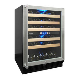 Vinotemp - Vinotemp - 45-Bottle Dual-Zone Wine Cooler - Store and display up to 45 bottles of your favorite wine in this Vinotemp 45 Bottle Dual-Zone Wine Cooler. With two individual, adjustable temperature zones for red and white wines, you will always have a bottle that is ready-to-serve on hand.