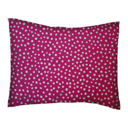 SheetWorld - SheetWorld Twin Pillow Case-Percale Pillow Case - Hot Pink Fun Dots-Made in USA - Pillow case is made of a durable all cotton percale material. Fits a standard twin size pillow. Features a Hot Pink Fun Dots print.