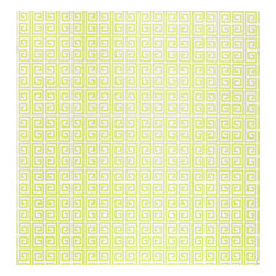 Kimberly Lewis Home - Ikat Wallpaper, Sample, Wasabi - Unlock your room's hidden potential. The subtle color and classic repeating Greek key motif is open to endless design possibilities. It's screen-printed by hand using environmentally friendly inks and paper.
