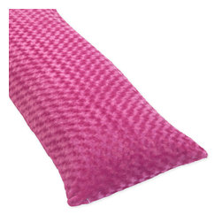Sweet Jojo Designs - Sweet JoJo Designs Minky Full Length Double Zippered Pink Body Pillow Cover - Add a splash of color to your home with this pink body pillow cover from Sweet JoJo Designs. This vibrant cover enhances any decor and can be coordinated with other items from the same collection to complete a streamlined look for your room.