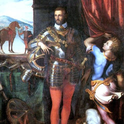 """Giulio Campi Portrait of Ottavio Farnese - 16"""" x 24"""" Premium Archival Print - 16"""" x 24"""" Giulio Campi Portrait of Ottavio Farnese premium archival print reproduced to meet museum quality standards. Our museum quality archival prints are produced using high-precision print technology for a more accurate reproduction printed on high quality, heavyweight matte presentation paper with fade-resistant, archival inks. Our progressive business model allows us to offer works of art to you at the best wholesale pricing, significantly less than art gallery prices, affordable to all. This line of artwork is produced with extra white border space (if you choose to have it framed, for your framer to work with to frame properly or utilize a larger mat and/or frame).  We present a comprehensive collection of exceptional art reproductions byGiulio Campi."""