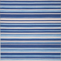 Jaipur - Solid/Striped Pura Vida 2'x3' Rectangle Deep Navy-Deep Navy Area Rug - The Pura Vida area rug Collection offers an affordable assortment of Solid/Striped stylings. Pura Vida features a blend of natural Deep Navy-Deep Navy color. Flat Weave of 100% Wool the Pura Vida Collection is an intriguing compliment to any decor.