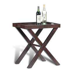 EuroLux Home - Tray-Top Table Leather SA-1330 - Product Details