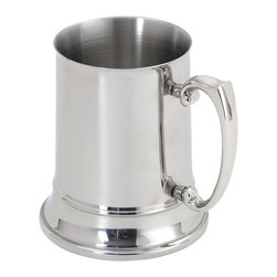 Cuisinox - Cuisinox Double-Walled Beer Stein - This stainless steel beer stein can easily accommodate any refreshment such as wine coolers or soft drinks. The double wall stainless steel composition keeps your choice of beverage cold several times longer than a traditional pewter or glass mug. Put it in the freezer for an hour before usage and it will keep your beverage cooler, longer. Works for all hot and cold beverages. It is unbreakable, therefore ideal for around the pool or patio.