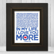 In My Life 8x10 Beatles Song Lyric Print The by TheLemonPeel