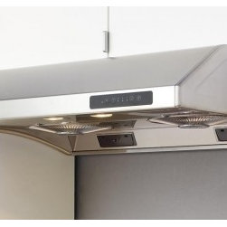 """Zephyr - Hurricane Series AK2500S 30"""" Standard Under Cabinet Range Hood with 695 CFM Inte - The Zephyr Hurricane under cabinet range hood features a 695 CFM fan speed self cleaning system removable safety grilles and halogen lighting Enjoy 3 speed levels that can be changed and controlled at your comfort This range hood is self-cleaning so ..."""