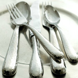 """Ricci """"Florence"""" Flatware - This is a beautiful and lightly hammered set."""